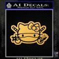 Hello Kitty Ninja Face D2 Decal Sticker Gold Vinyl 120x120