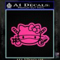 Hello Kitty Ninja Face D2 Decal Sticker Pink Hot Vinyl 120x120