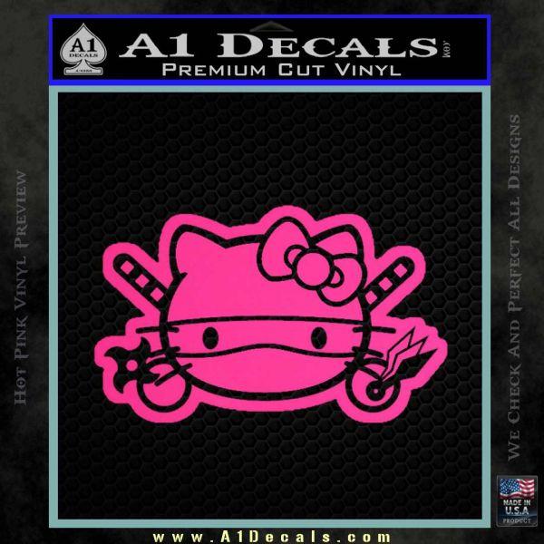 Hello Kitty Ninja Face D2 Decal Sticker Pink Hot Vinyl