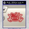 Hello Kitty Ninja Face D2 Decal Sticker Red 120x120