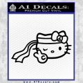 Hello Kitty Peace Sign Bandanna Decal Sticker Black Vinyl 120x120