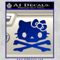 Hello Kitty Skull and Crossbones Decal Sticker Blue Vinyl 120x120