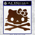 Hello Kitty Skull and Crossbones Decal Sticker Brown Vinyl 120x120