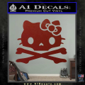 Hello Kitty Skull and Crossbones Decal Sticker DRD Vinyl 120x120