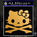 Hello Kitty Skull and Crossbones Decal Sticker Gold Metallic Vinyl 120x120