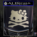 Hello Kitty Skull and Crossbones Decal Sticker Metallic Silver Vinyl 120x120