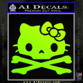 Hello Kitty Skull and Crossbones Decal Sticker Neon Green Vinyl 120x120