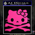 Hello Kitty Skull and Crossbones Decal Sticker Neon Pink Vinyl 120x120