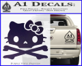 Hello Kitty Skull and Crossbones Decal Sticker Purple Vinyl 120x97