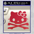 Hello Kitty Skull and Crossbones Decal Sticker Red Vinyl 120x120