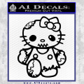 Hello Kitty Zombie Apocolypse HKZ Decal Sticker Black Vinyl 120x120