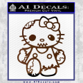 Hello Kitty Zombie Apocolypse HKZ Decal Sticker Brown Vinyl 120x120