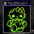 Hello Kitty Zombie Apocolypse HKZ Decal Sticker Neon Green Vinyl 120x120