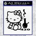 Hello Kitty and Bong RR Decal Sticker Black Vinyl 120x120