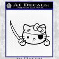 Hello Pirate Kitty Decal Sticker Black Vinyl 120x120