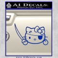 Hello Pirate Kitty Decal Sticker Blue Vinyl 120x120