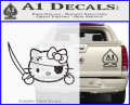 Hello Pirate Kitty Decal Sticker CFB Vinyl 120x97