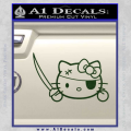 Hello Pirate Kitty Decal Sticker Dark Green Vinyl 120x120