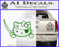 Hello Pirate Kitty Decal Sticker Green Vinyl 120x97
