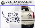 Hello Pirate Kitty Decal Sticker Purple Vinyl 120x97