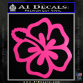 Hibiscus Hollow Decal Sticker Neon Pink Vinyl 120x120