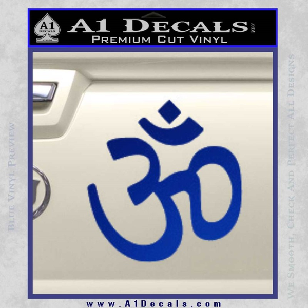 Hinduism Symbol Decal Sticker Blue Vinyl