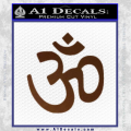 Hinduism Symbol Decal Sticker Brown Vinyl 120x120