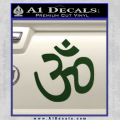 Hinduism Symbol Decal Sticker Dark Green Vinyl 120x120