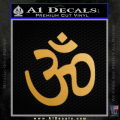Hinduism Symbol Decal Sticker Gold Metallic Vinyl 120x120