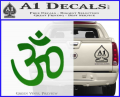 Hinduism Symbol Decal Sticker Green Vinyl 120x97
