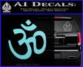 Hinduism Symbol Decal Sticker Light Blue Vinyl 120x97