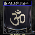 Hinduism Symbol Decal Sticker Metallic Silver Vinyl 120x120