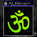 Hinduism Symbol Decal Sticker Neon Green Vinyl 120x120