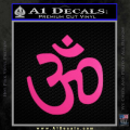 Hinduism Symbol Decal Sticker Neon Pink Vinyl 120x120