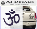 Hinduism Symbol Decal Sticker Purple Vinyl 120x97