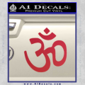 Hinduism Symbol Decal Sticker Red Vinyl 120x120