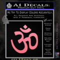 Hinduism Symbol Decal Sticker Soft Pink Emblem 120x120