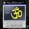 Hinduism Symbol Decal Sticker Yellow Vinyl 120x120