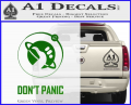 Hitch Hikers Guide Dont Panic New Decal Sticker Green Vinyl 120x97