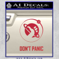 Hitch Hikers Guide Dont Panic New Decal Sticker Red Vinyl 120x120