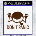 Hitchhikers Guide To The Galaxy Decal Sticker A Brown Vinyl 120x120