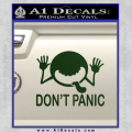 Hitchhikers Guide To The Galaxy Decal Sticker A Dark Green Vinyl 120x120