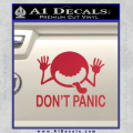 Hitchhikers Guide To The Galaxy Decal Sticker A Red Vinyl 120x120