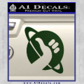 Hitchhikers Guide To The Galaxy Decal Sticker B Dark Green Vinyl 120x120