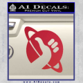 Hitchhikers Guide To The Galaxy Decal Sticker B Red Vinyl 120x120