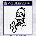 Homer Simpson TU Decal Sticker Black Vinyl 120x120
