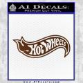 Hot Wheels Decal Sticker D2 Brown Vinyl 120x120