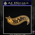 Hot Wheels Decal Sticker D2 Gold Metallic Vinyl 120x120