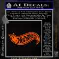 Hot Wheels Decal Sticker D2 Orange Emblem 120x120