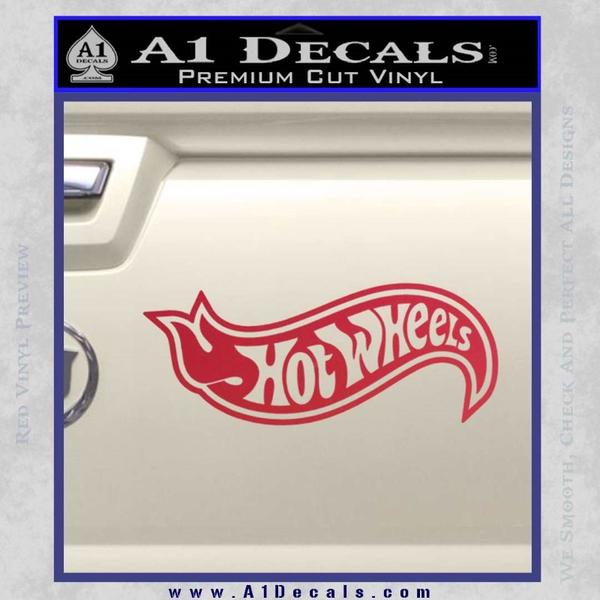 Hot Wheels Decal Sticker D2 Red Vinyl